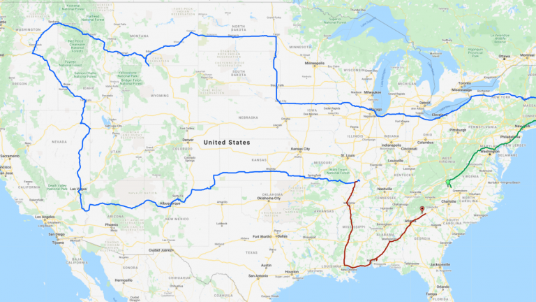 Drove 48 States in 8 days.